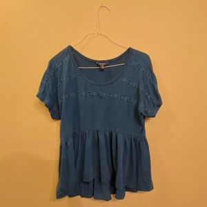 American Eagle Outfitters Blue Top